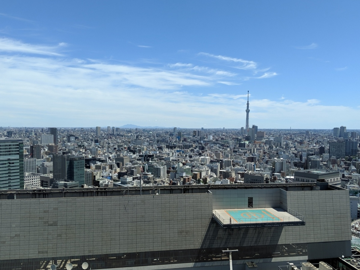 The Tokyo Skyline, as seen from my office in Nihombashi